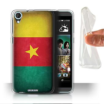 STUFF4 Gel/TPU Case/Cover for HTC Desire 820q Dual/Cameroon/Cameroonian/Flags