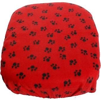 FidoRido Fleece Cover -Red/Black Paw Prints FIDOFC-FCRB