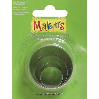 Makin's Clay Cutters 3 Pkg Round M360 1