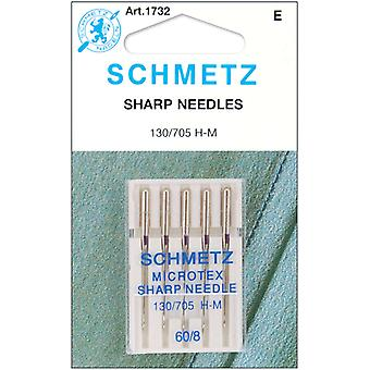 Microtex Sharp Machine Needles Size 8 60 5 Pkg 1732