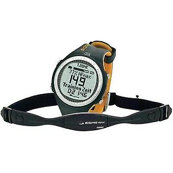 Heart rate monitor watch with chest strap Sigma PC 25.10 Black-