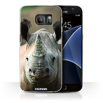 STUFF4 Case/Cover for Samsung Galaxy S7/G930/Rhino/Wildlife Animals