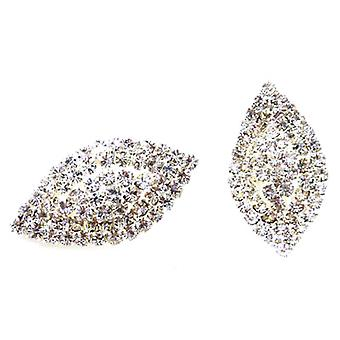 Clip On Earrings Store Diamante Crystal Diamond Shaped Clip On Earrings