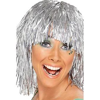 Cyber Tinsel Wigs Silver