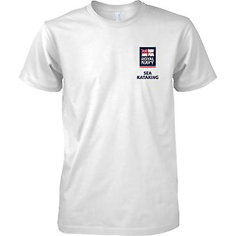 RN Sea Kayaking Logo 2 - Royal Navy Sports T-Shirt Colour