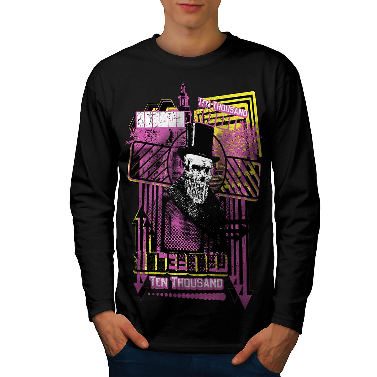Reason For Death Gent Haunted Men Black Long Sleeve T-shirt | Wellcoda