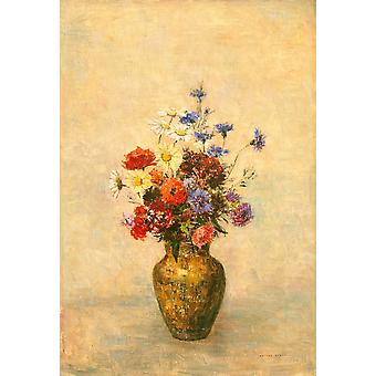Flowers In A Vase Poster Print