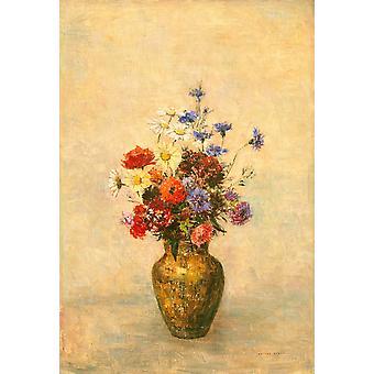 Цветы в вазе Плакат Печать