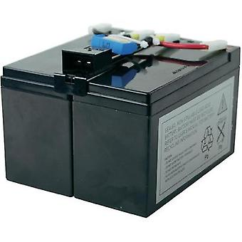 UPS battery Conrad energy replaces original battery RBC48 Suitable for (misc.) DLA750, SIA750ICH-45, SMT750, SMT750I, SM