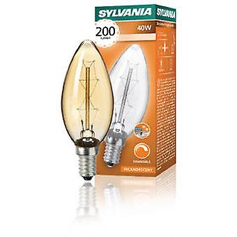 Sylvania Vintage Decorative Candle 40W 230 / 240V E14