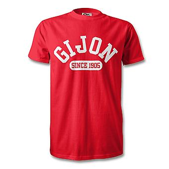 Sporting Gijon 1905 Established Football T-Shirt