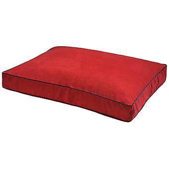 Dog Gone Smart Suede Rectangle Bed Red 66x86x10cm