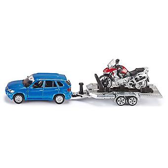 Siku Car With Trailer And Motorbike  (Toys , Vehicles And Tracks , Mini Vehicles , Cars)