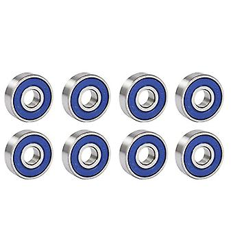 TRIXES 8 Frictionless Abec 9 Sealed Skateboard Roller Skate Bearings
