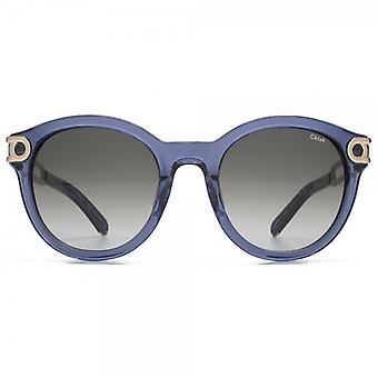 Chloe Cate Temple Round Sunglasses In Denim