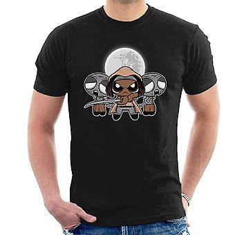 Shuffle And Slice Michonne Walking Dead Men's T-Shirt