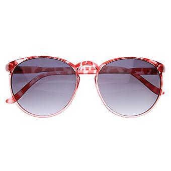 Dame Vintage inspireret Retro runde centrale hul Horn kantede solbriller