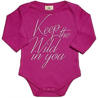 Spoilt Rotten Keep The Wild In You Organic Babygrow