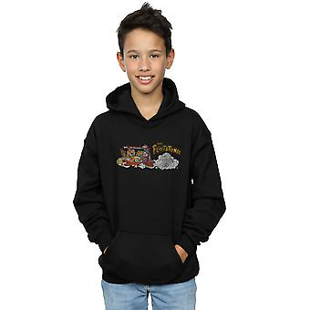 The Flintstones Boys Family Car Distressed Hoodie