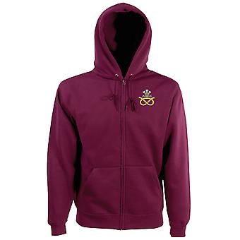 The Staffordshire Regiment Embroidered Logo - Official British Army Zipped Hoodie Jacket