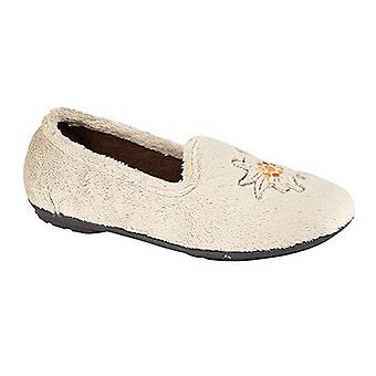 Sleepers Womens/Ladies Tamsin Embroidered Logo Tab Slippers