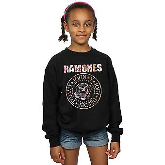 Ramones Girls Flower Rose Sweatshirt