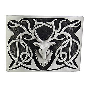 Pewter Stag Buckle (GMB26 GE)