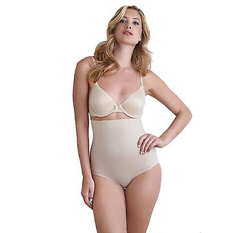 Naomi and Nicole 7345-1-020 Women's Nude Firm/Medium Control Slimming Shaping High Waist Brief