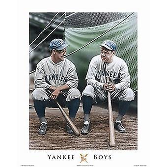 Yankee Boys Lou & Babe Poster Print by Darryl Vlasak (16 x 20)