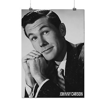 Matte or Glossy Poster with Johnny Carson USA | Wellcoda | *q1477