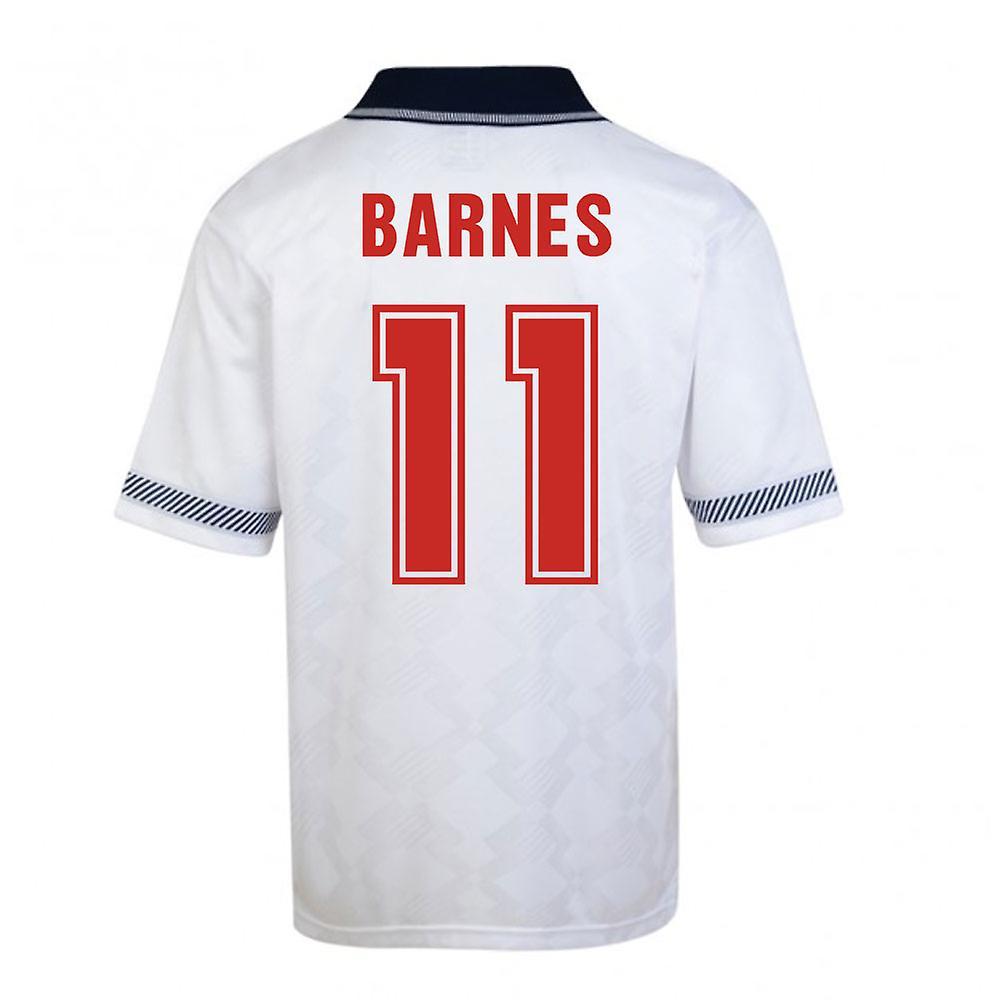 Score Draw England World Cup 1990 Home Shirt (Barnes 11)