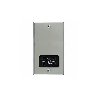 Hamilton Litestat Hartland brilhante cromo inoxidável Shaver Volt Dual Socket BL