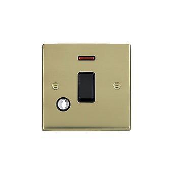 Hamilton Litestat Cheriton Victorian Polished Brass 1g 20AX DP Rkr+Neon+CO BL/BL