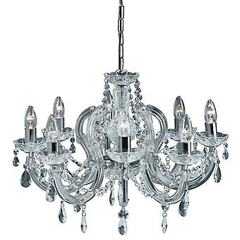 8 luce Marie Therese Crystal Chrome Fitting - Searchlight 399-8