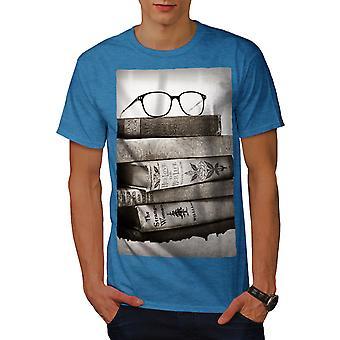 Vecchia collezione libri Royal BlueT-camicia uomo | Wellcoda