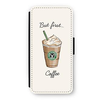 iPhone 5c Flip Case - But first coffee
