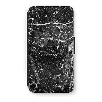 Samsung Galaxy A5 (2017) Flip Case - Black marble