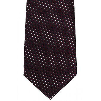 Michelsons of London Fish Scale Geo Silk Tie - Wine