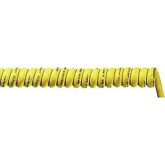 Spiral cable ÖLFLEX® SPIRAL 540 P 1700 mm / 5000 mm 7 x 1 mm² Yellow LappKabel 732201421