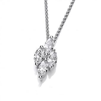 Cavendish French Silver and Cubic Zirconia Icicle Pendant without Chain