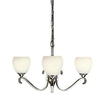 Interiors 1900 63445 Columbia 3 Light Polished Nickel Uplighter Chande