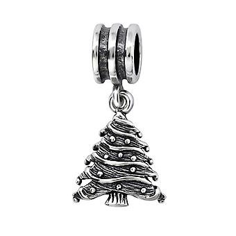 Christmas Tree - 925 Sterling Silver Plain Beads - W28222x