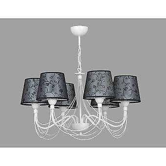 Emibig Lighting Snow 6 White Ceiling Chandelier Light Fixture