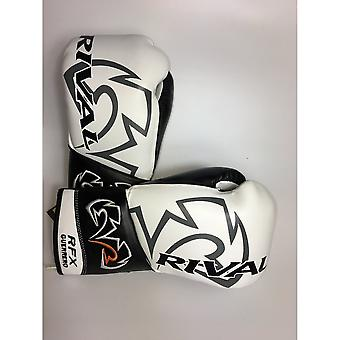 Rival RFX-Guerrero Lace Up Pro Boxing Gloves - White Black