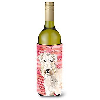 Amor una botella de vino de Wheaten Terrier Beverge aislador Hugger