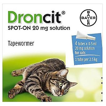 Droncit Spot On Wormer 4 Tube Pack for Cats, 4 pipettes, 20g