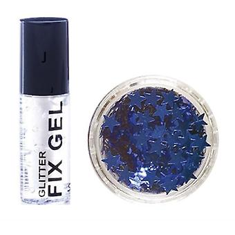 Stargazer Fix Gel Glue + Blue Glitter Stars