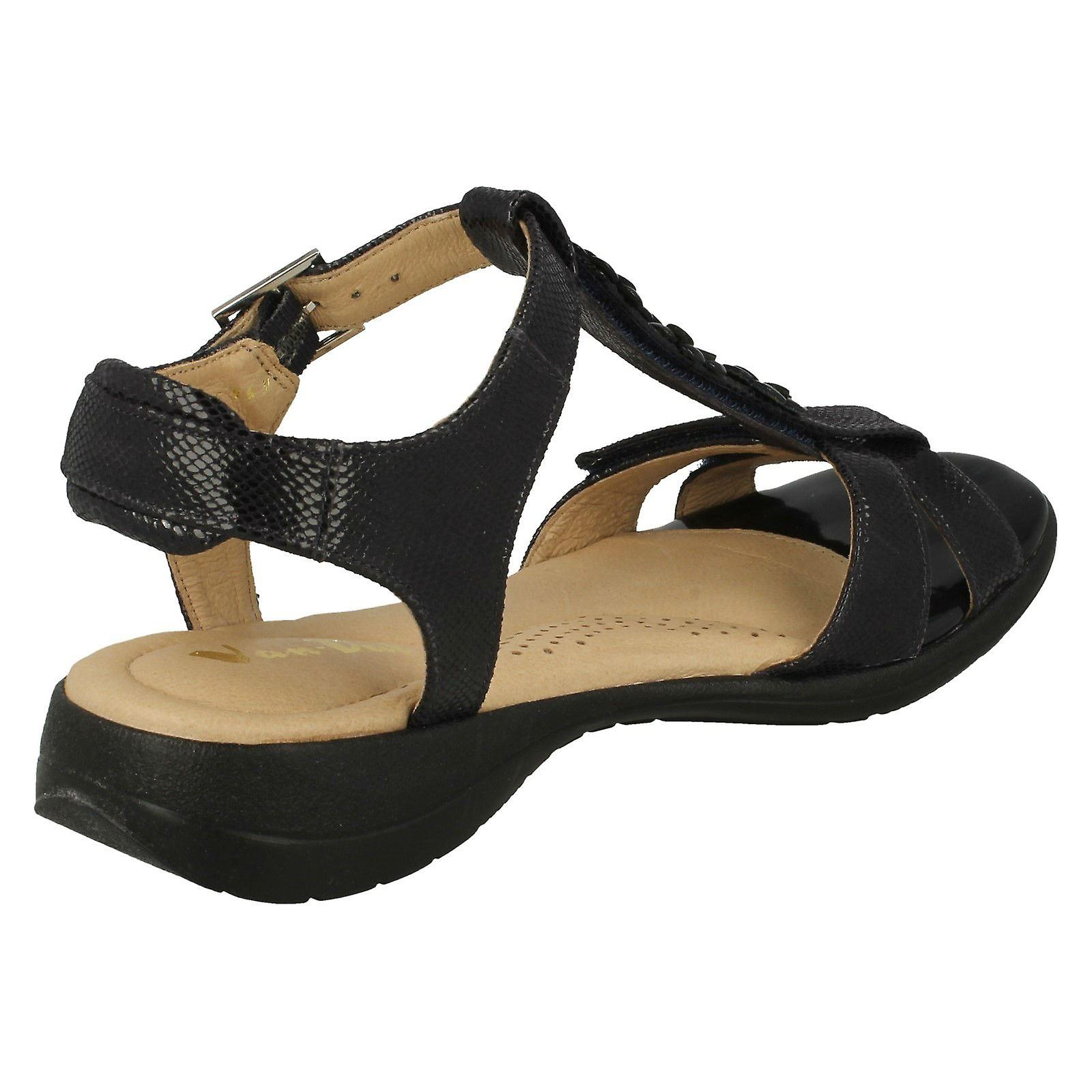 fa923837dedb09 Reptile Prt Dal Van Leather Ladies Strappy Sandals Soft Midnight xRY0qzwgq