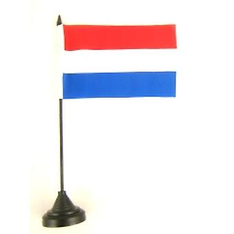 Holland Table Flag with Stick and Base
