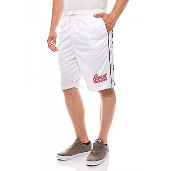 Sweet SKTBS men's summer shorts white hoop mesh base